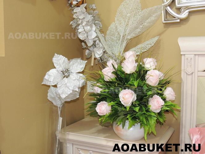 Цветы искусственные в вазу купить в