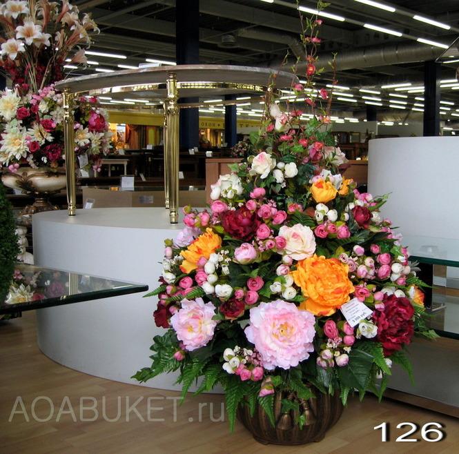 большие искусственные цветы фото