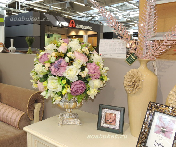 Композиция из искусственных цветов на заказ интер магазин розеткакупить исскуственные цветы