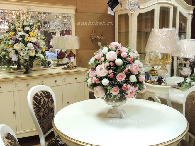 Искусственные цветы в вазе 5d6e0a4bdeec0